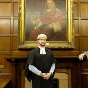 Justin at the Middle Temple